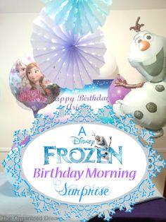 An simple birthday morning #Frozen style! #DIY