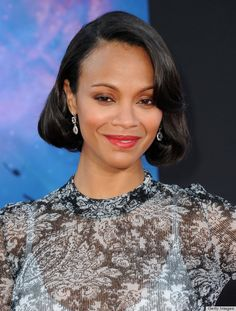 Leave it to Zoe Saldana for inspiring us to try the faux-bob