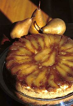 PEAR UPSIDE DOWN COFFEE CAKE: This dish is very versatile.  Serve it for brunch or save for after dinner  #pear #CoffeeCake pear upsid, coffee cakes, upside down cakes, coffe cake, dessert