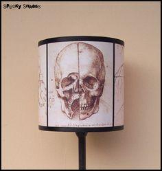 Da Vinci's Creed Skull lampshade lamp shade by SpookyShades, €45.00