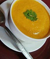 Carrot Coconut Soup.  Yummers.