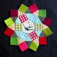 Gingham EPP blocks