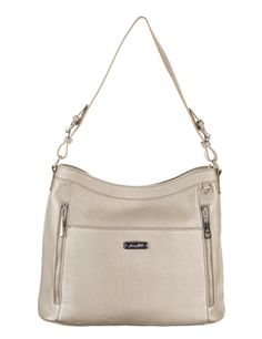 Grace Adele Handbag ~ Giselle Metallic $80 ~ Zippered hobo with detachable shoulder strap.  Great bag for concealed weapons.  www.styles2love.us