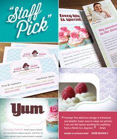 Staff Pick! Spotlight on Design. Brian choose a whimsical design for a Cake Shop.