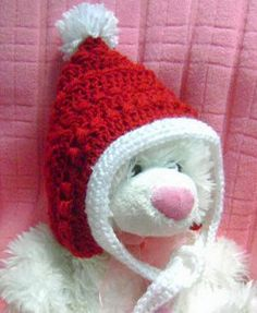 This free crochet pattern will show you how to crochet a little pixie-style hat for your baby.