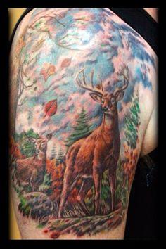 Deer  tattoo on shoulder
