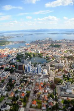 Tilt Shift photo of Stavanger