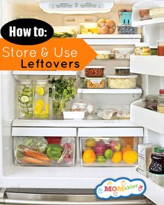 How To Store and Use Up Leftovers - MOMables® - Healthy School Lunch Ideas