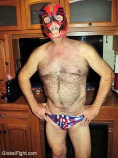 masked silverdaddie older wrestler