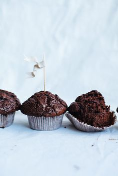 Double chocolate muffins / Call me cupcake, via Flickr