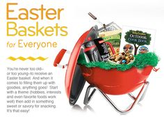 Cute easter basket idea for husbands! charcoal grill, basket idea, grill fyrkat, barbecu, bodum fyrkat, picnics, fyrkat picknick, grills, easter basket