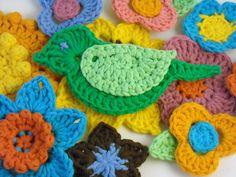 crochet brooches by Adaiha, via Flickr