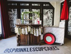 Sprinkles cupcakes and ice cream cart