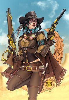 Lady Mechanika outlaw - Joe Benitez #steampunk #steampunkgirl #pinup #comics