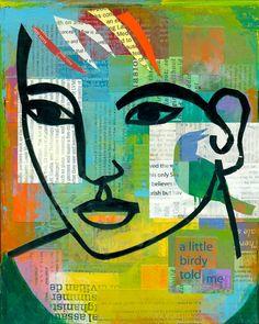 great portrait project contour portrait, line drawings, mixed media collage ideas, self portraits, decorating ideas, collage school ideas, mix media, project ideas, portrait project