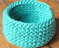 knitted zpagetti bowl
