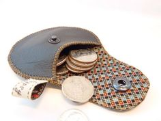 leather coin pouch -