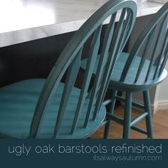I am going to do this with my bar stools. I've been scared to paint furniture but these are an inexpensive try and a good first project! Perfect instructions at this website! it's always autumn - itsalwaysautumn - refinishing the bar stools