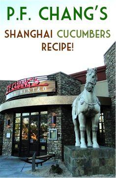 PF Changs Shanghai Cucumbers Recipe