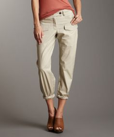 I'm loving the look of slightly baggy, rolled pants with a T and some cute flats or a pair of heels and a blazer for a casual night out.