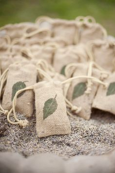 burlap bags of lavender for the guests to toss! // photo by ChristaElyce.com