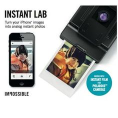 Impossible Instant Lab for iPhone: The Impossible Instant Lab is designed to transform any digital image via your iPhone into an instant photo that is exposed using only the light from the display, then processed and developed by chemicals. A photo that exists physically. A photo that is a one-of-a-kind original that can be shared, exhibited and preserved. A photo that no longer needs an electronic device to be seen.