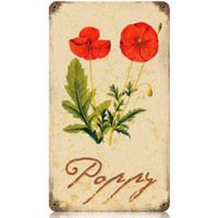 Red Poppies Sign