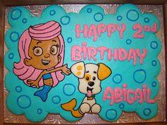 Bubble Guppies pull apart cupcake cake