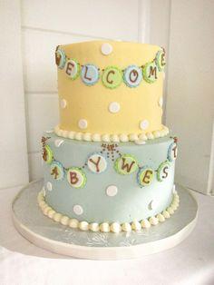 vintage baby shower | Vintage Baby Shower Cake | Flickr - Photo Sharing!