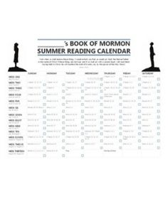 2013 Summer Book of Mormon Reading Chart - Start May 30th, read 6.5 pages a day, and be done before the school year starts.