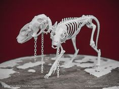 Cerberus Skeleton 3D Print by MythicArticulations on Etsy, $80.00