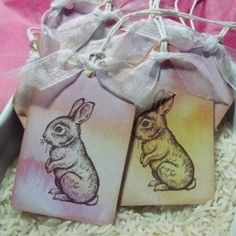 Little Brown Bunny Easter Gift Tag