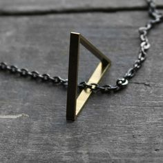 Freeform Triangle Necklace now featured on Fab.