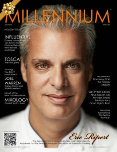 November | December | Number 34 | A Eric Ripert The Executive Chef of Le Bernardin, New York's Internationally Acclaimed Four Star Seafood Restaurant Talks About His Passion for Cooking. Holiday Issue http://www.magcloud.com/browse/issue/670879 #ericripert #millenniummagazine #cooking #chef