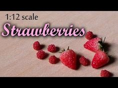 ▶ Miniature Strawberry - Polymer Clay Tutorial - YouTube