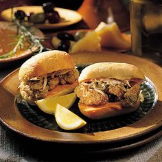 Dressed Mini Oyster Po'boys | A smaller version of the classic, our Dressed Mini Oyster Po'boys are served with a slaw and Creole dressing.