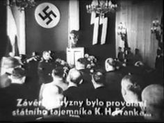 Remembrance ceremony at 1st anniversary of Heydrich's death in Prague
