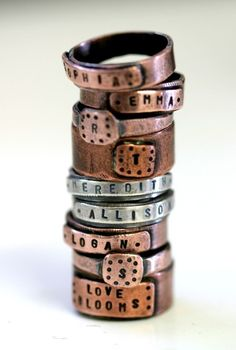 Personalized Custom Name Band Ring