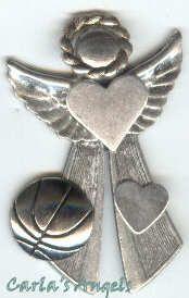 Basketball Player Angel Pin - $17.95