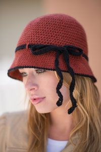 Hôtel de Ville Cloche Digital Crochet Pattern from Love of Crochet magazine's Holiday Crochet 2014 Issue - A classic hat featuring a stylish tie