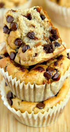 Banana Oat Greek Yogurt Muffins ~ Made without flour or oil, these Banana Oat Greek Yogurt Muffins make for a deliciously healthy breakfast or snack!