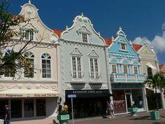 dutch architecture in Oranjestad, Aruba