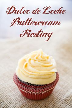 Dulce De Leche Frosting - How to Fix a Cupcake Mishap (from Cupcake Project)