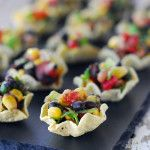 Cowboy Caviar Cups cup, black beans, appetizer recipes, bean salads, healthy appetizers, easy appetizer, cowboy caviar, cowboy appetizer, appet recip