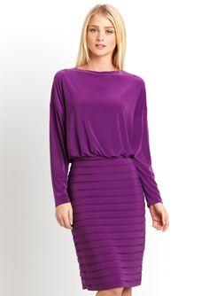 ADRIANNA PAPELL Blouson Banded Skirt