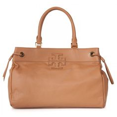 Tory Burch Stacked leather logo tote found on Polyvore