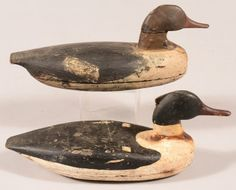 Sold $425 Decoy lot of (2) New Jersey Merganser decoys. Condition: fair to good.