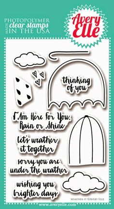 Weather It clear stamp set by Avery Elle
