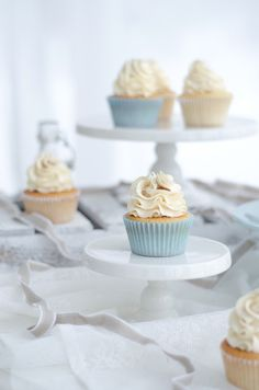 Very Vanilla Cupcakes with Vanilla Swiss Meringue Buttercream and Vanilla Syrup