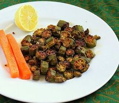 Crisp Okra with Indian Pickle spices